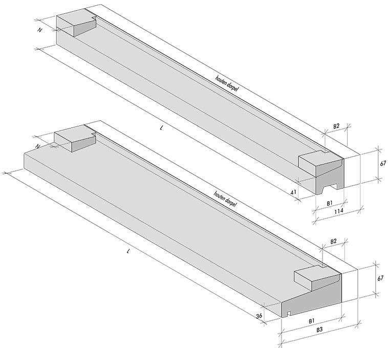 Hybrid thresholds 67 mm