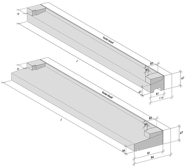 Hybrid thresholds 52 mm